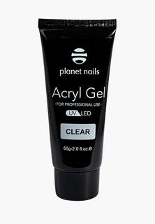 Гель-лак для ногтей Planet Nails Acryl Gel прозрачный, 60гр