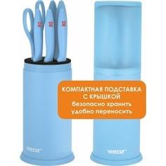 Набор ножей 7 предметов Vitesse (VS-8130 Голубой)