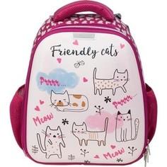 Ранец №1 School Friendly cats, кож.зам 843410
