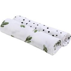 Пеленка Bebe Au Lait Пеленки Bamboo Muslin 2 шт. Saguaro/Dottie