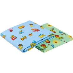 Пеленка Sweet Baby SB-K022-M2, 130x90, фланель цветная с рис.(комплект, 2 шт)