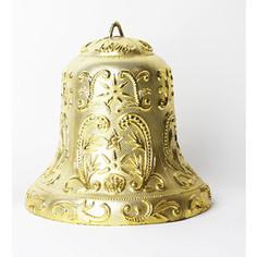 Snowmen колокольчик с орнаментом 30см 1шт. в пакете золотой (ЕК0158)