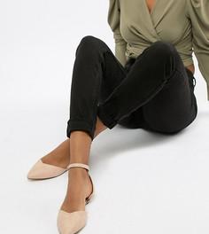 Туфли на плоской подошве для широкой стопы с завязками Lost Ink - Бежевый