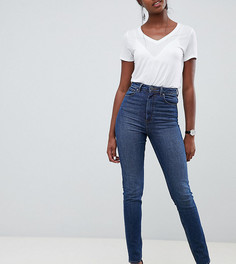 Узкие темные джинсы в винтажном стиле с завышенной талией ASOS DESIGN Tall Farleigh - Синий