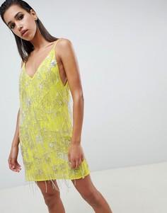 Платье мини с декоративной отделкой ASOS EDITION - Мульти