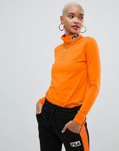 Лонгслив с логотипом Fila - Оранжевый