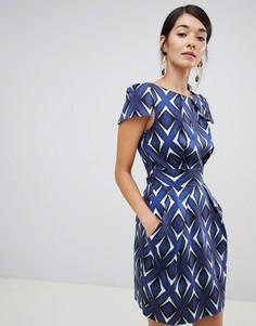Платье-футляр с зеркальным принтом Closet London - Мульти
