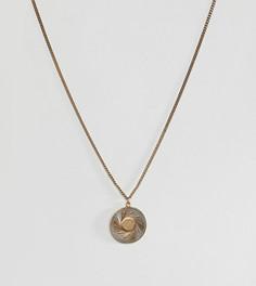 Золотистое ожерелье с подвеской Regal Rose Rebirth - Золотой