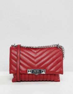 Красная стеганая сумка через плечо с заклепками ALDO - Красный