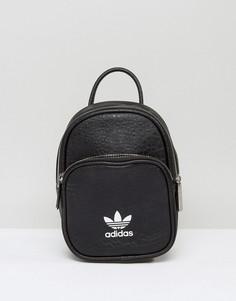 Черный миниатюрный рюкзак из искусственной кожи adidas Originals - Черный