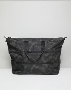 Камуфляжная нейлоновая сумка HUGO Record C - Черный