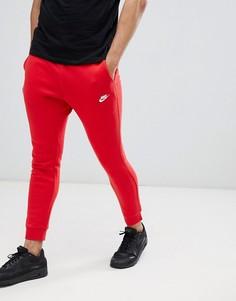 Красные джоггеры с галочкой Nike Club 804408-657 - Красный