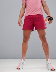 Красные шорты Nike Running Distance 892909-618 - 5 дюймов - Красный