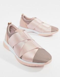 Светло-розовые кроссовки с ремешками Ted Baker - Розовый