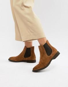 Кожаные ботинки челси Selected - Коричневый
