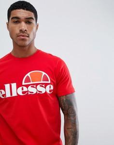 Красная футболка с крупным логотипом ellesse - Красный