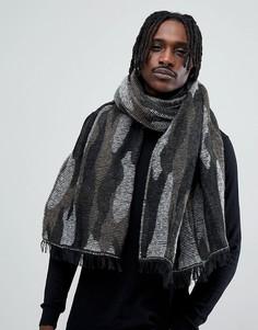 Черный шарф с камуфляжным принтом Antony Morato - Черный