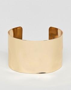 Золотистый браслет-манжета ASOS DESIGN - Золотой
