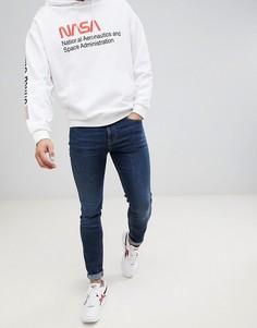 Зауженные джинсы цвета темного индиго Brooklyn Supply Co - Синий