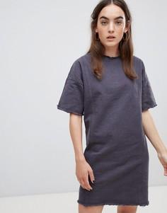 Платье с необработанным краем Native Youth - Серый