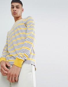 Желтый лонгслив в полоску Nike SB 938020-752 - Желтый
