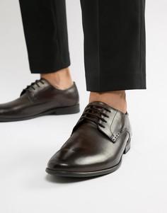 Коричневые оксфордские туфли Base London Westbury - Коричневый