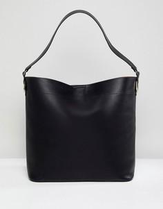 Большая структурированная сумка для покупок ASOS DESIGN - Черный