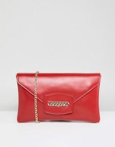 Клатч со съемным ремешком и цепочкой ASOS DESIGN - Красный