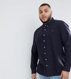 Темно-синяя приталенная оксфордская рубашка Farah Brewer - Темно-синий