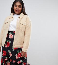 Куртка из искусственного меха телесного цвета Missguided Plus - Кремовый