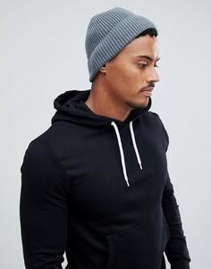Серая шапка-бини ASOS DESIGN - Серый