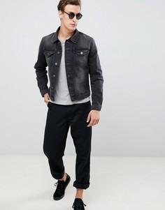 Серая выбеленная куртка Selected Homme - Серый