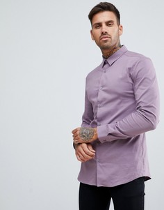 Сиреневая обтягивающая рубашка из поплина River Island - Фиолетовый