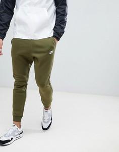 Зеленые джоггеры с галочкой Nike Club 804408-395 - Зеленый
