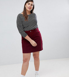 Вельветовая юбка ASOS DESIGN Curve - Красный