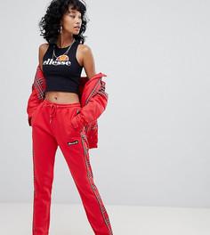 Комбинируемые спортивные штаны с клетчатыми полосками по бокам Ellesse - Красный