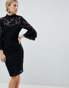 Кружевное платье Paper Dolls - Черный