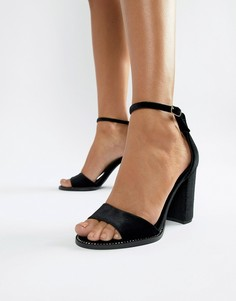 Босоножки на блочном каблуке New Look - Черный