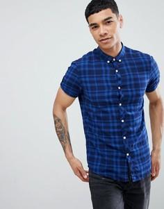 Рубашка в клетку с короткими рукавами Tom Tailor - Синий
