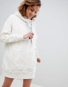 Трикотажное oversize-платье с капюшоном Paul & Joe Sister - Кремовый