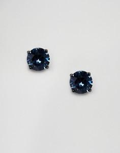 Серьги-гвоздики с кристаллами Swarovski от Simon Carter - Синий