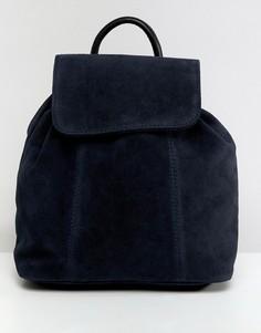 Замшевый рюкзак ASOS DESIGN - Темно-синий