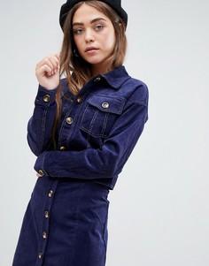 Вельветовая куртка от комплекта Glamorous - Темно-синий