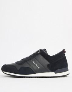 Темно-синие кроссовки с замшевыми вставками Tommy Hilfiger - Темно-синий