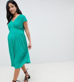 Чайное платье миди ASOS DESIGN Maternity - Зеленый