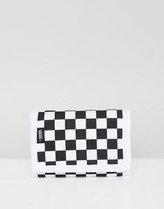 Черный бумажник с принтом в шахматную клетку Vans VN000C32Y281 - Черный