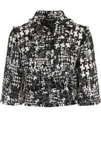 Вязаный жакет с укороченным рукавом и бахромой Dolce & Gabbana