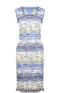 Вязаное платье без рукавов с бахромой St. John