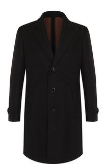 Однобортное пальто из смеси шерсти и кашемира с шелком Ermenegildo Zegna