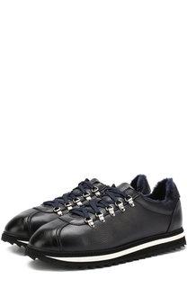 Замшевые кроссовки на шнуровке с внутренней меховой отделкой Doucals Doucals